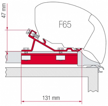 Fiamma F65 / F80 Awning Adapter Kit - Fixing Bar